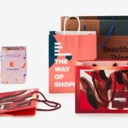 Shopping Bags con stampa totale, vari formati, cordino in carta o cotone
